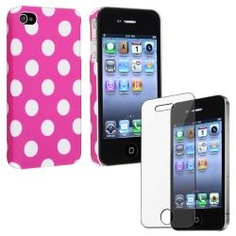 @Overstock - This is a 2-piece set for Apple iPhone 4/ 4S. Protect your cell phone against bumps and scratches with this accessory.http://www.overstock.com/Electronics/Pink-with-Dot-Case-Screen-Protector-for-Apple-iPhone-4-4S/6750056/product.html?CID=214117 $4.99