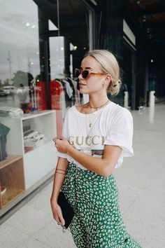 Gucci t-shirt outfit ideas #outfits #fashion #streetstyle #styleinspiration #ootd #clothes #style #lookbook #wear #denim #wardrobeclassics