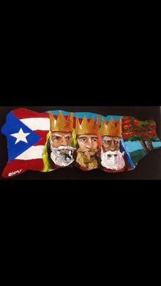 Reyes magos y flamboyan Puerto Rico