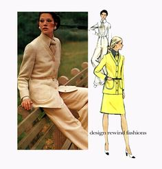1970s VOGUE CARDIGAN JACKET Pattern Pants Skirt Shirt Vogue 2684 Christian Dior Paris Original  UNCuT Vintage Womens Sewing Patterns at DesignRewindFashions on Etsy