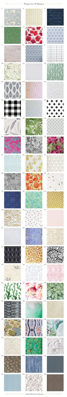 My 63 Favorite Temporary Wallpaper Patterns