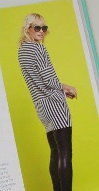 Free PDF pattern, GBSB Sleeved stripey knit dress