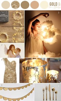 Hey Look - Event styling, design inspiration, DIY ideas and more: INSPIRATION: GOLD & ANGELS