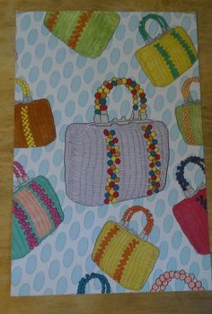 From Golden Girl's coloring book. Sophia's purse.  i colored what I thought a little old lady from FL would like to carry