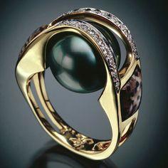 RANDY POLK DESIGNS: WOMEN'S RINGS. Never can have enough Tahitian Black Pearls.