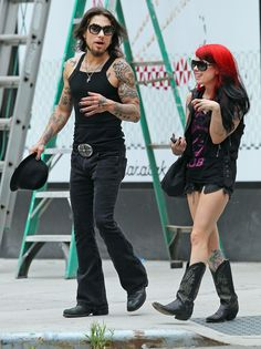 Dave Navarro And Megan Massacre Out And About In New York