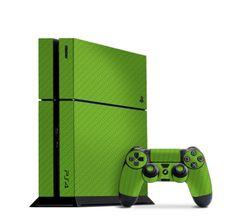 Green Carbon Fiber Slickwraps for the PS4  http://slickwraps.com