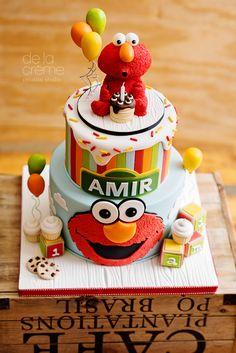 Hakeem s second birthday Sesame Street Birthday Cakes, Elmo Birthday Cake, Sesame Street Cake, Elmo Cake, First Birthday Cakes, Boy Birthday Parties, Birthday Ideas, Baby Birthday, Elmo Cookies