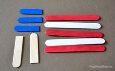 An easy of July craft for kids. My kids helped me make a few of these cute popsicle flags to help decorate for the of July. Diy For Kids, Crafts For Kids, Independence Day Wallpaper, Autism Classroom, July Crafts, Popsicle Sticks, Preschool Crafts, Flags, 4th Of July