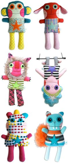 Fuzzies Handmade Dolls, Toys, Softies by Bluestar Ink