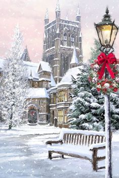 beautiful christmas images - New Year Noel Christmas, Victorian Christmas, Vintage Christmas Cards, Christmas Pictures, Winter Christmas Scenes, Christmas Mantles, Silver Christmas, Christmas Christmas, Christmas Ideas