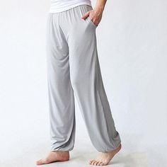 970af6e48d Mens Lightweight Loose Comfy Breathable Yoga Pants Morning Practice Cozy  Sports Pants