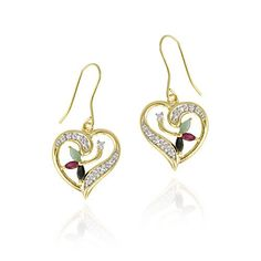 18K Gold over Sterling Silver Ruby, Sapphire, « Holiday Adds