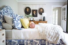 I finally blogged about one of my most favorite client projects This quirky traditional eclectic guest room reveal is on the blog this morning