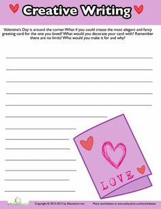 Worksheets: Valentine's Day Creative Writing #2