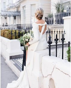 """Mirror Mirror Bridal Boutique on Instagram: """"Crushing on this gorgeous shoot featuring our dress by @naomineoh and a beaded jumpsuit from our @elizajanehowell collection.  Head over to…"""" Mirror Mirror Bridal, London Blog, Bridal Boutique, Crushes, Jumpsuit, Wedding Dresses, Collection, Instagram, Fashion"""