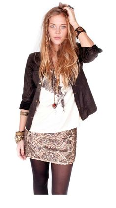 Edgy boho luxe outfit by Bendito Pie. Yes I'm obsessed.