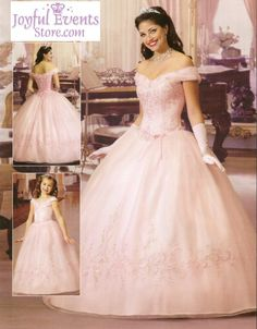 Beautiful ball gown off the shoulder neck glove floor-length white quinceanera gown - Top Seller Quinceanera Dresses