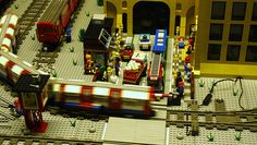 Lego Model Tube by @Jemimah Knight at Miniature Tube Trains, Wapping Shafts & Red Buses - Open Weekend at London Transport Museum Depot - 10th - 11th March 2012