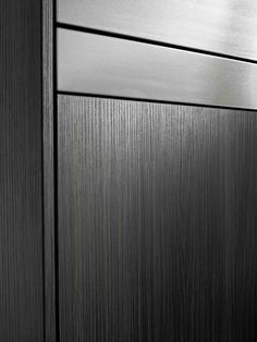Steamer, oven and dishwasher cabinetry Laminex Impressions Domain Nuance finish.