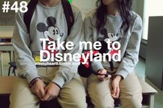 Me: And we'll wear matching shirts everyday, right?  You: Everyday?  Me: Everyday.  You: So...everyday for forever.  Me: Uh...just for Disneyland.  You: Kay, fine. But I'm picking out the ears.  Me: ...I'm not wearing the ears.  You: What?!