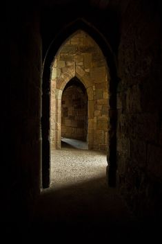 Dark Castle Interior, Caernarfon, Wales by rosierday05, via Flickr