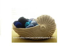Nautilus Shell Crochet Basket Pattern (available on Ravelry for fee)