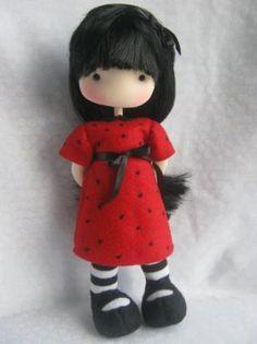 fidelina, muñecas con corazon muñeca telas de algodon costura manual