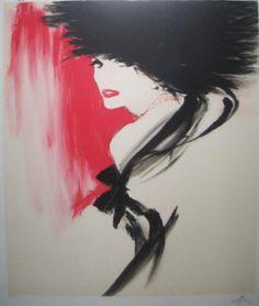 """♛ Pildoras de Tango  Rene Gruau, """"La Belle en noir"""""""
