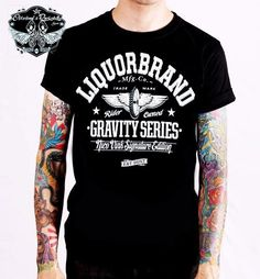 Liquor Brand T-Shirt GS1.Tattoo, Biker, Oldschool, Rockabily, Custom Styles