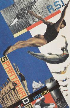 Gustav Klutsis - 1928 - Postcard for Moscow Games
