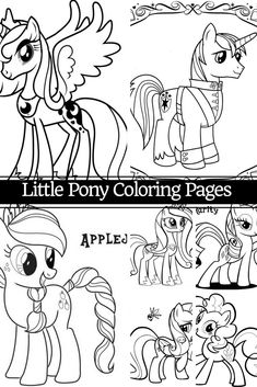 Girly coloring pages My Little