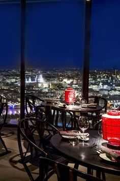 Hutong at The Shard, Central London If you're not a fan of heights, then best to avoid going up to the 33rd floor of the Shard. However, if you can handle it you should go to Hutong, for spectacular views of London and for the cocktails, which are delicious. Be aware there is a dress code too but that just means you have an excuse to wear your new dress. #mice