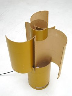 Carboard Helice lamp by Jacques Limousin