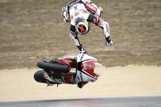 Jorge Lorenzo, motorcycle crashes from the Laguna Seca round of MotoGP.