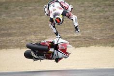 Jorge Lorenzo, motorcycle crashes from the Laguna Seca round of MotoGP.
