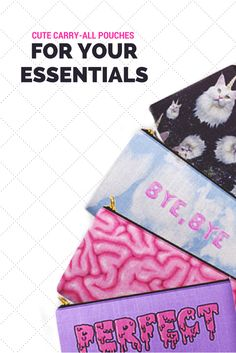 Psycho but cute carry-all pouches from Society6 or all of your essential.Use it…