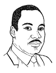 Free printable Dr. Martin Luther King, Jr. coloring sheet