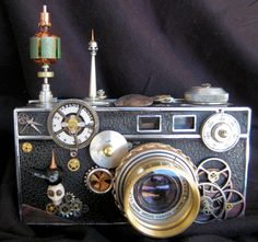 Antigue 50's OriginalSkulleryCo. Argus420 Steam Punk Camera.
