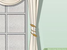 How to Drape Window Scarves. A window scarf, smartly hung, can highlight an entire room. Use a window scarf to cover up a curtain rod, or install scarf hooks to hang a window. Scarf Curtains, Window Scarf, Burlap Curtains, Cool Curtains, Hanging Curtains, Drapes And Blinds, Window Drapes, Curtains Living, Bathroom Window Dressing