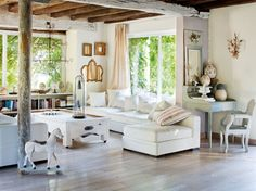 white living room french provence decorating style