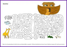 Noah and the Ark Maze - Kids Korner - BibleWise
