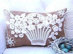 Katty's Cosy Cove Blog: Irish Crochet Lace Pillow