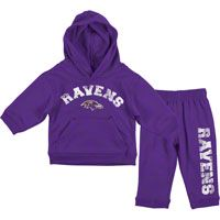 Baltimore Ravens Kids 4-7 Purple Pullover Fleece Hoodie & Pant Set