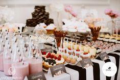 Glamour Wedding,Sweet table / Wesele galmour,Słodki stół,Anioły Przyjęć