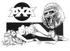 Romero, Enrique Badia - Originele pagina - Axa Wildlife with Gorilla - (2015) - Catawiki
