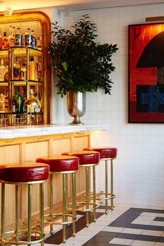 Bar Counter, Counter Stools, Cities, Beams, Design Inspiration, Restaurant, Interior, Table, Furniture