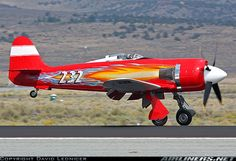 """The Unlimited Class racer """"September Fury"""" landing after a qualifying session at the Reno Air Races.[Canon EOS + Canon EF IS USM] - Photo taken at Reno - Reno-Stead (RTS) in Nevada, USA on September Ww2 Aircraft, Fighter Aircraft, Military Aircraft, Fighter Jets, Reno Air Races, Plane Photography, Airplane Art, Vintage Air, Aircraft Pictures"""
