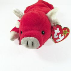 c7f37c31c4d Snort Beanie Baby Mint - Tag Errors - PVC Pellets - No Stamp - Snort The  Bull MINT 1995 Rare Retired