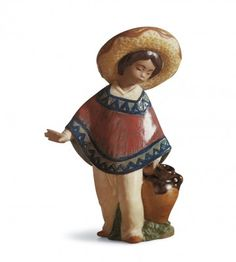 Purchase Lladro Pedro With Jug Porcelain Figurine. $310
